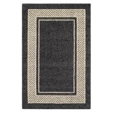 Gray Accent Rug Run For The Border Graphite Sand Accent Rug Maples Rugs