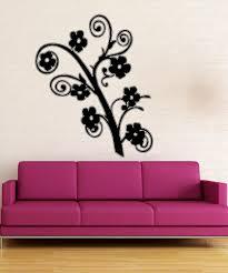 large flower wall decals vinyl flower stickers stickerbrand vinyl wall decal sticker flowers on branch 5322