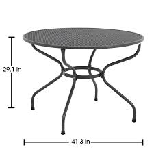 Metal Mesh Patio Furniture - royal garden ludwig patio round dining table seats four