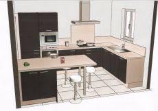 cuisine 7m2 cuisine vert anis design photo décoration chambre 2018