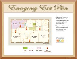 evacuation maps hotel emergency plans hotel evacuation monterey ca