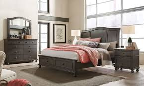 Queen Beds With Storage Oxford Black Queen Sleigh Storage Bedroom Haynes Furniture
