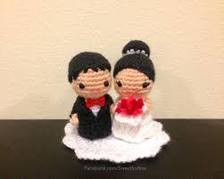 Wedding Gift Knitting Patterns Amigurumi Crochet Wedding Couple Doll Pattern Bride Groom