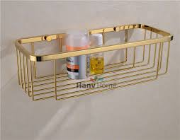Bathroom Basket Storage Bathroom Accessories Stainless Steel Gold Wire Shelf Bracket Shelf