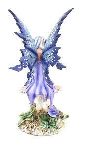 amazon com amy brown licensed violet fairy statue polyresin