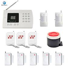 minritech home security gsm alarm system wireless wired sms