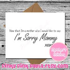 pinky pink paula greeting cards u2014 funny mothers day card mom