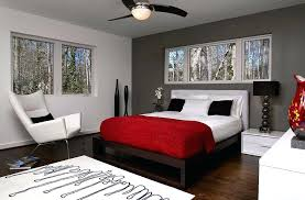 Gray Walls Curtains Grey And Red Wall Paint Youngster Bedroom In Red And Grey White