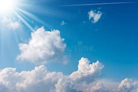 blue sky with clouds and sun rays stock image image of freedom