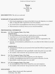 resume format example format