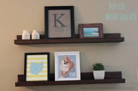 Wall Mounted Wooden Shelves by Storage U0026 Organization Incredible Diy Hanging Shelves