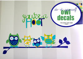 Owl Wall Sticker Diy Owl Wall Decals Little Boy Room Project The Homes I Have Made