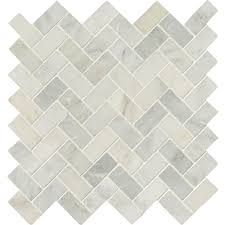 Tile Ms International Arabescato Carrara Herringbone Pattern 12 In X