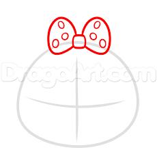 draw tsum tsum minnie mouse step step disney