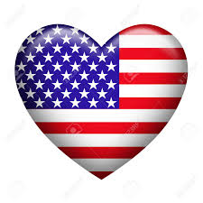 How To Draw A Flag Heart Shaped Clipart American Flag Pencil And In Color Heart