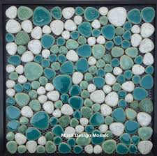 online get cheap bathroom floor green pebble tiles aliexpress com