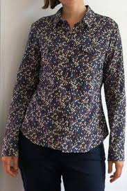 granville shirt in wiltshire liberty print tucked in sewaholic