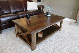 rustic table ls for living room ana white rustic x coffee table diy projects