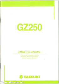 2004 suzuki gz250 marauder owners manual u2013 repair manuals online