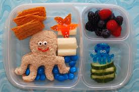 cookie cutter lunch lunch with an octopus
