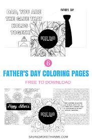 six free father u0027s day coloring pages makes a great card u2022 winter