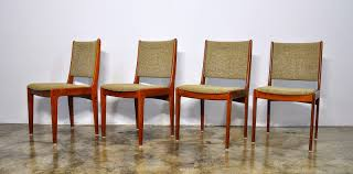 Modern Teak Outdoor Furniture by Select Modern Set Of 4 Danish Modern Teak Dining Chairs