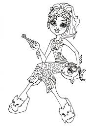 free printable monster high coloring pages october 2012