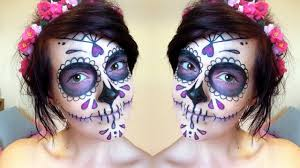 Halloween Makeup Dia De Los Muertos Easy Sugar Skull Makeup Tutorial You Mugeek Vidalondon