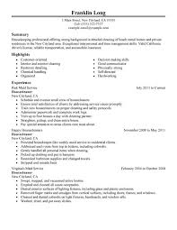 Housekeeping Job Description For Resume by Housekeeping Resumes Housekeeping Cover Letter Example