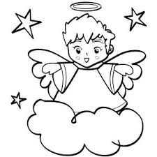 cute angels boy wiht halo coloring cute angels boy wiht halo