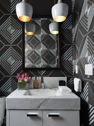 hot summer trend 25 dashing powder rooms with tropical flair 25 awesome rooms that inspire you to attempt out geometric wallpaper