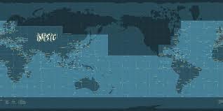 Coordinates Map El Oriente Maps With Sea Names And Coordinate Grid 2012 Mapshack