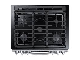 Slide In Cooktop 5 8 Cu Ft Slide In Gas Range With Fan Convection Ranges