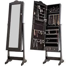 standing mirror jewelry cabinet nishano jewellery cabinet storage stand mirror free standing
