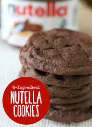 homemade nutella cookies with only 3 ingredients u2014 need we say more