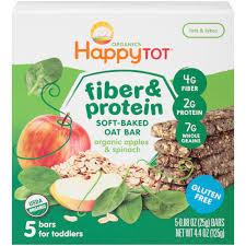 happy tot organics fiber u0026 protein organic apples u0026 spinach soft