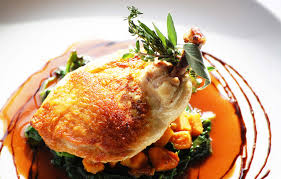fine dining plate ideas with chicken google search fine