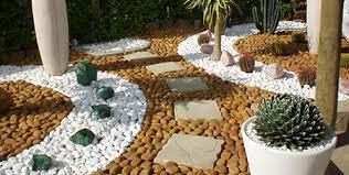 artistic landscapes with decorative pebbles