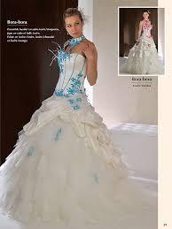 robe de mariã e bleue de mariee bleu turquoise et blanc