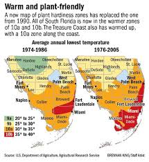 temperature map florida new usda map puts palm county in warmer zone for plants