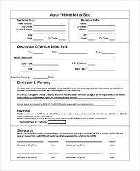 bill of sale template car vehicle bill of sale template 11 free word pdf document