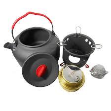 cuisiner avec une bouilloire alocs aluminium cuisson régler sports de plein air portable