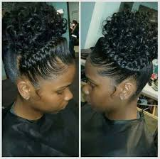 braided pin up hairstyle for black women crown braid ponytail favs pinterest braided ponytail crown