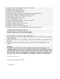 quality management system template free