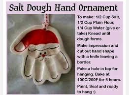 santa dough ornament ornaments