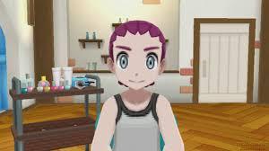pokémon sun and moon all haircuts colors male u0026 female youtube