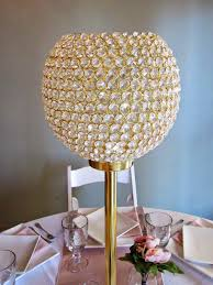 centerpiece rental rental highlight beaded vase on gold stand elite events
