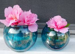 Turquoise Glass Vase Decor Captivating Mercury Glass Vases For Home Accessories Ideas