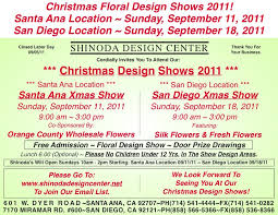 Wholesale Flowers San Diego Christmas Design Shows 2011 Shinoda Design Center