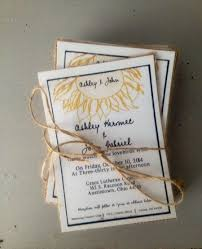 Sunflower Wedding Invitations Rustic Sunflower Wedding Invitations With Burlap Black And White